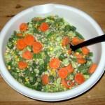 Протеин,задушени зеленчуци